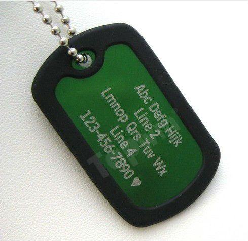 Promotional Dog Tag Keychain