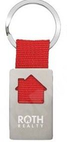 Promotional House Shaped Metal Keychain