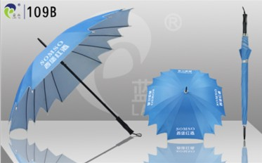 Promotional Straight Fashion Flower Swallow Tail Umbrella 109b