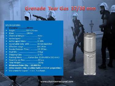 Provider Of Tear Gas Cartridge 37 38 Mm