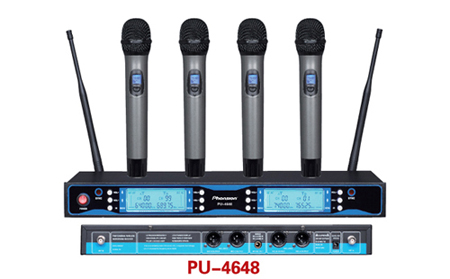 Pu 4648 4 Channel Wireless Microphone
