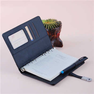 Pu Cover D Rings Binding Notebook Organizer Planner