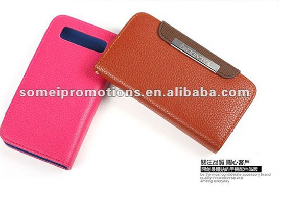 Pure Color Mobile Phone Leather Protection For Samsung I9300