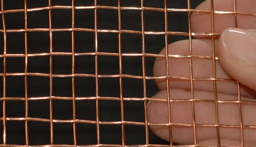 Purple Copper Wire Mesh Red Cloth