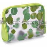 Pvc Cosmetic Bag Clear Printed Gift Vinyl Makeup Zipper Logo Custom