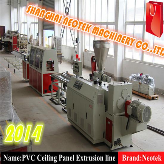 Pvc Pe Pp Wood Plastic Composite Board Extrusion Line