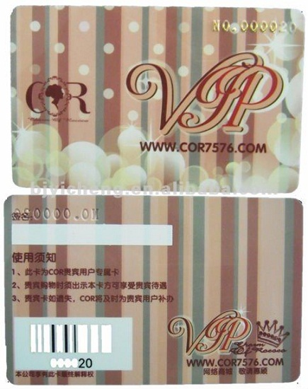 Pvc Plastic Card With Personal Craft