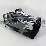 Quad Pack Bag Nylon Foldable Makeup Storage Toiletry Seat In Camouflage Pattern Printed