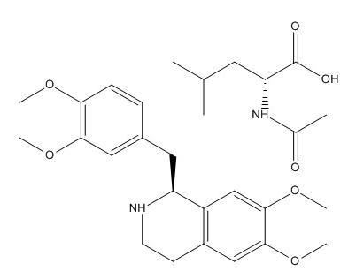 R Tetrahydropapaverine N Acetyl L Leucinate