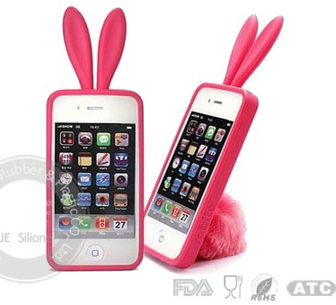 Rabbit Ear Silicone Mobile Phone Protector Case Cover Piano Price Supplier