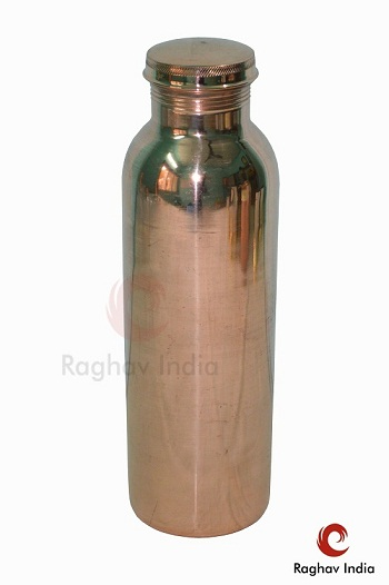 Raghav India 100 Genuine Copper Water Bottle Jointless 1 Litre Capacity