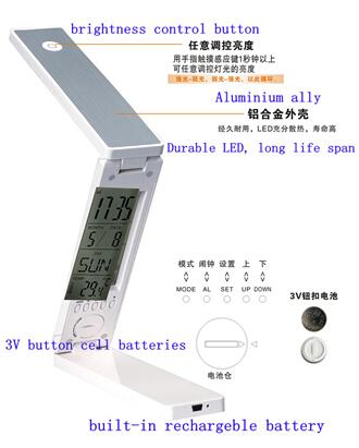 Rapid Button Folding Rechargeable Led Desk Lamp