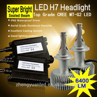 Real 6400 Lumens A Set Car Led Headlight With High Power H4 H7 70w