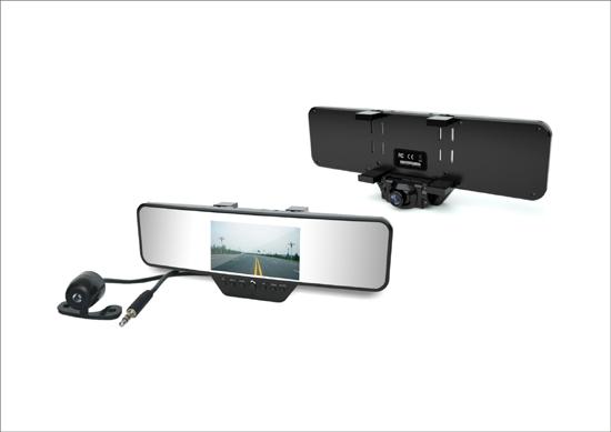 Rearview Mirror Dvr Camera Car Black Box Dash Cam With Bluetooth Gps G Sensor