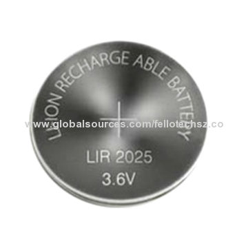 Rechargeable Lithium Ion Button Cell Battery Lir2025 3 6v For Memory Card Remote Control