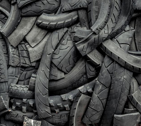 Reclaimed Products Old Rubber Tyre Glass Cullet