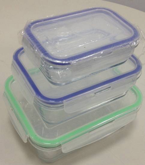 Rectangle Glass Food Container And Storage Box
