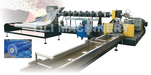 Recycling And Granulating Line For Film In Roll
