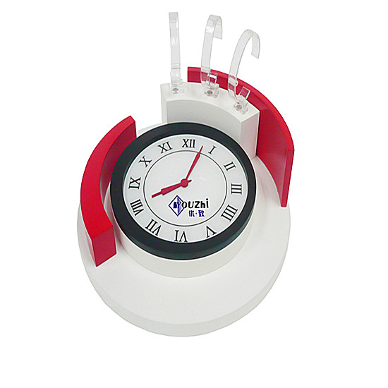 Red And White Painting Watch Showcase Stand