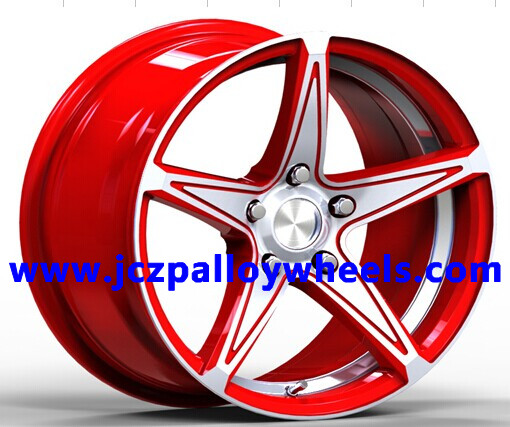 Red Machined Face Car Rims 18x8 0