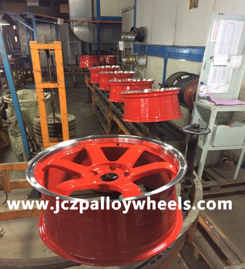 Red Machined Lip Car Wheels 18x9 5