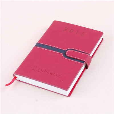 Red Pu Cover Paper Diary Notebook China Factory