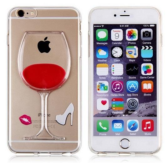 Red Wine Liquid Case For Iphone