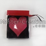 Red Zipper Bag With Heart Logo Cosmetic Display Cheap Custom Color Pvc