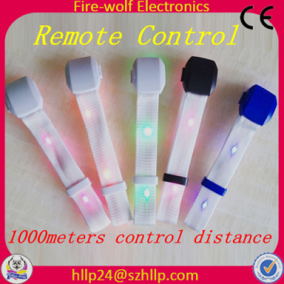 Remote Control Led Bracelet Radio Activated Flashing Glow Wristband