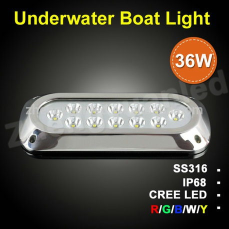 Rgb 36w Led Underwater Boat Lights Color Changable