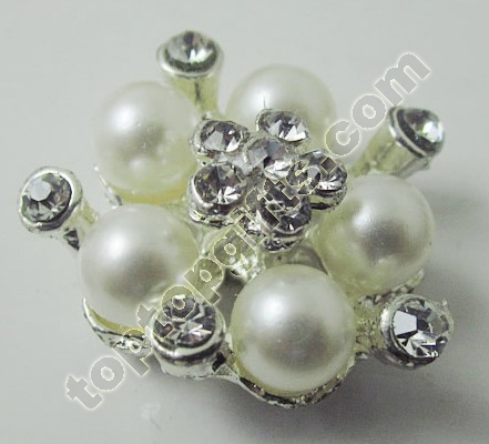 Rhinestone Button With Plastic Pearl To Berlin Fashion Show