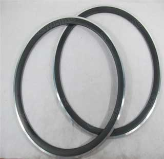Road Carbon Alloy Rim 24mm Clincher With Aluminum6061 T5 Brake Surface