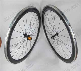 Road Carbon Alloy Wheels 60mm Clincher With Novatec Powerway Hub