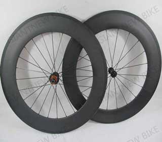 Road Carbon Wheels 88mm Tubular With Basalt Brake Surface