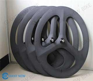 Road Track Carbon Tri Spoke Wheel 70mm Clincher