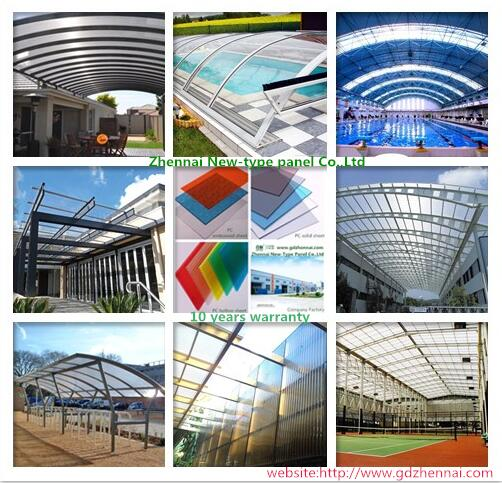 Rohs Sgs Ge Lexan Plastic 100 Virgin Material Polycarbonate For Agricultural Greenhouse