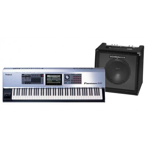 Roland Fantom G8 88 Key Synth Workstation Sampler With Kc350 Keyboard Amp