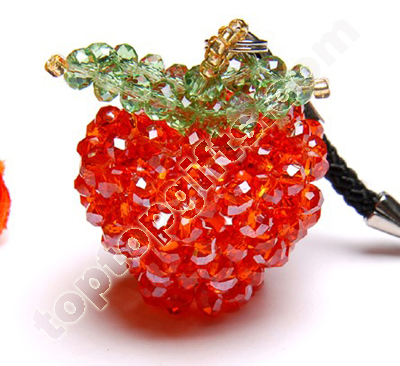 Rondelle Crystal Beaded Apple Charms