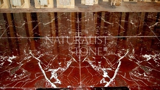 Rosso Levanto Bookmatched Marble