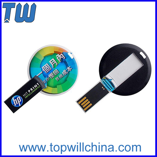 Round Card Twister Usb Flashdrives With Free Printing And Fast Delivery