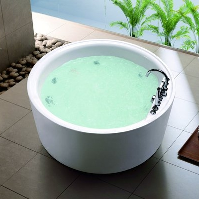 Round Freestanding Indoor Jacuzzi Whirlpool Factory Out Price Personal Bathtub