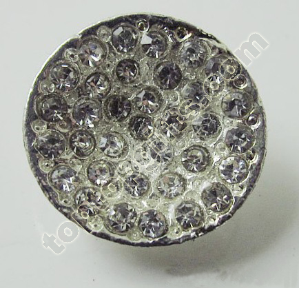 Round Full Rhinestone Button