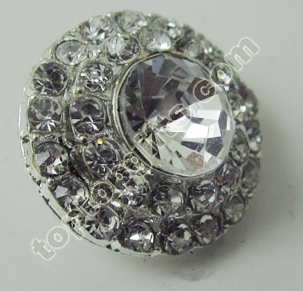 Round Large Rhinestone Button