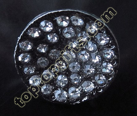 Round Middle East Rhinestone Button