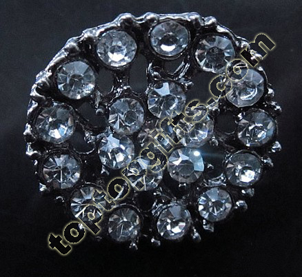 Round Rhinestone Button Fashion Garment Accessories