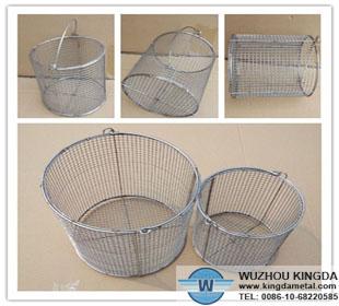 Round Stainless Steel Wire Mesh Baskets