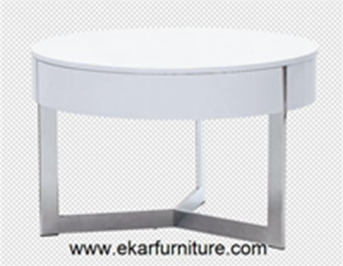 Round Wood Table Coffee White Ot812