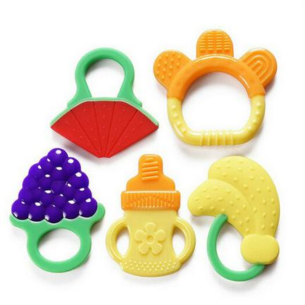 Safe Silicone Baby Nipple Teether Custom Made Teethers