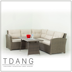Salinas 3 Pieces Sectional Deep Seating Group With Cushions Code Td1015