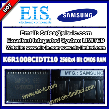 Samsung K6r1008cidti10 Ic 128k X 8 Bit Static Ram High Speed Tsop 32